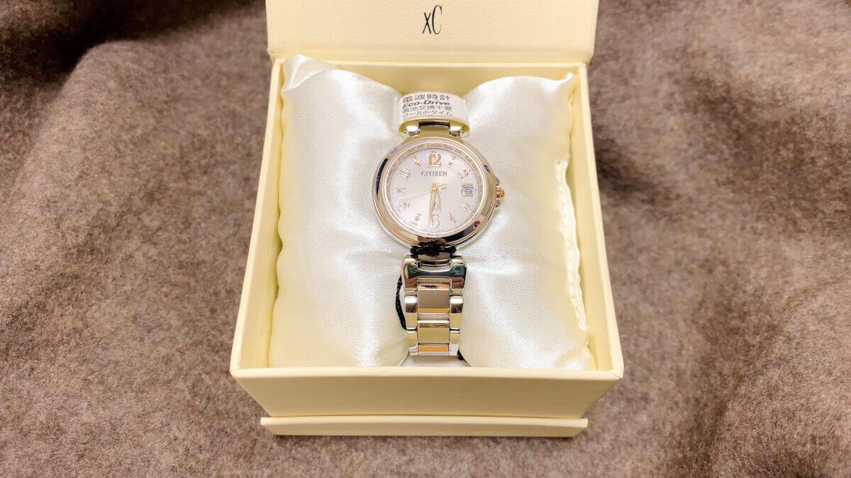 シチズンの腕時計をもらった