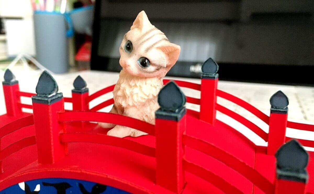ペーパークラフト「かささぎの橋」をマイペースに作ってみた