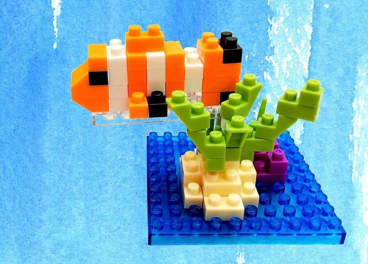 セリアの「マイクロブロック すいぞくかんA ~クマノミ~」を作ってみた